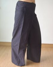 Thai Fisherman Yoga Meditation Massage Maternity Pants Long Black 100% COTTON