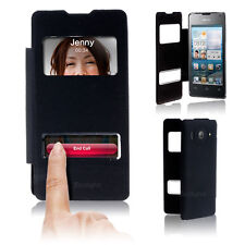 New Flip Back Battery Folio Case Cover For HUAWEI Ascend Y300