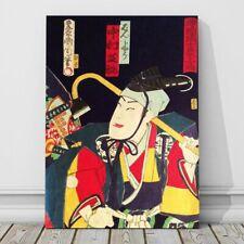 "Vintage Japanese Kabuki Woodblock Art CANVAS PRINT 8x10"" Kunichicka #24"
