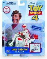 "Disney Pixar Toy Story 4 Duke Caboom & Motorcycle pull n go 4"" Action Figure"