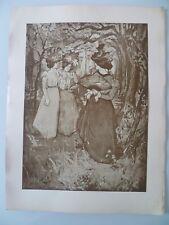 """1898 """" MENUET AU BOIS """" MANUEL ROBBE LITHOGRAPHIE ORIGINALE L'ESTAMPE MODERNE"""