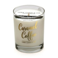 Luna Candle Co. Natural Soy Wax Caramel Coffee Scented Candle,Burn Time 110 Hrs.