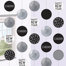Amscan Year's Eve Party Giant Disco Ball Drop Hanging String Decoration