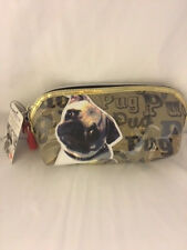 Fuzzy Nation Pug Dog Pencil case  - Make up Case / Bag - Brand New