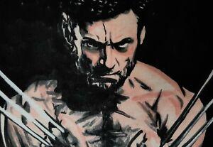 Original Hugh Jackman Wolverine X Men aceo sketch card drawing