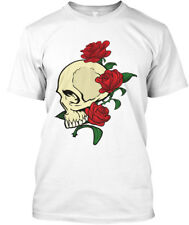 Halloween-skull With Red Rose Hanes Tagless Tee T-Shirt