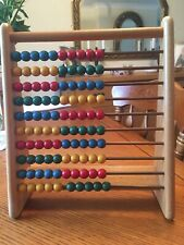 Vintage 1960s Kiddicraft Wooden Abacus Children's Learning Counting Toy Learning