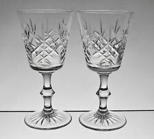 """Cc472 Paire Edinburgh Crystal Lomond 6 1/8"""" verres à vin-signé"""
