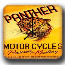 Panther Motor Cycles VINTAGE RETRO GARAGE WORKSHOP METAL TIN SIGN WALL CLOCK