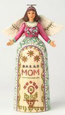 "Angel with Mom Stitching ""My Mother, My Angel"" Jim Shore Heartwood Creek 4039470"