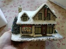 "Thomas Kinkade's Village Christmas ""Santa's Workshop Toys"" Lighted Lib49"