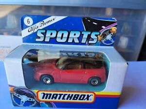 MATCHBOX 1991 - ALFA ROMEO SZ [RED] CAR NEAR MINT VHTF CARD GOOD COMBINED POST