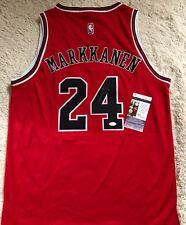Lauri Markkanen Signed Autograph Chicago Bulls jersey COA JSA Photo