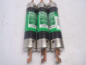 Lot of 3 LLSRK 70 Powr-Pro LLSRK-70 Fuse LLSRK70
