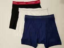 Calvin Klein Boxer Briefs - Medium - Black - Blue - White - 3 Pair