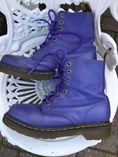 Doc Martens Purple Soft Pascal Leather Ladies Boots 1460 8hole Uk5/38 Good Cond