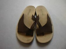 SPERRY TOP SIDER BROWN LEATHER SLIP ON THONG SANDALS SZ 6M ~ CLEAN ~ VGC