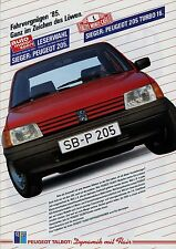 Peugeot Talbot Prospekt 2/85 1985 Broschüre 205 GR XR GTI 505 309 Samba Solara