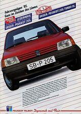 Peugeot Talbot prospectus 2/85 1985 brochure 205 GR XR GTI 505 309 SAMBA SOLARA