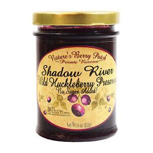Shadow River Wild Huckleberry Gourmet Preserves No Added Refined Sugar 9 oz Jam