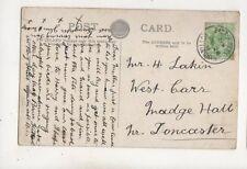East Kirkby Niottingham 28 Jun 1911 Single Ring Postmark 671b