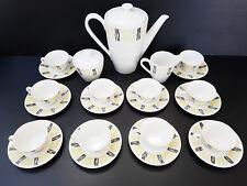 SERVICE A CAFE 10 TASSES 1950 VINTAGE ANNEES 50 CERAMIQUE PORCELAINE 50S 50'S