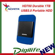 ADATA HD700 Rugged 1TB USB3.0 Portable HDD Blue G Shock Sensor