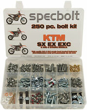 SPECBOLTS 250pc Bolt Kit KTM SX EX EXC XC 50 65 85 150 125 250 300 450 520 525
