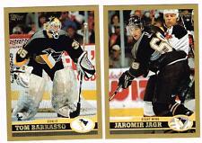 1999 2000 99/00 TOPPS...TEAM SET...PITTSBURGH PENGUINS...9 CARDS...JAGR BARRASSO