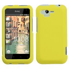 Rubber Yellow Rubberized HARD Protector Case Phone Cover for Verizon HTC Rhyme