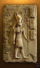 Egyptian God Horus wall relief plaque stone freize sculpture home art decor