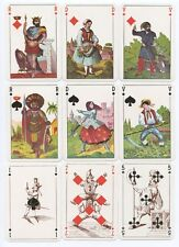 Reproduction of old Germany Transformation playing cards rare repro reprint mint