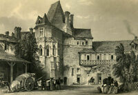 THE BATHS OF CATHERINE MEDICI HAS BLOIS engraving 1876