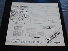 33 Upm - Gilles Langoureau - Werbeanhänger - Annees 1970