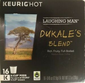 KEURIG LAUGHING MAN Dukale's Blend Medium Roast K-Cups, 16 Pods EXP 09/18