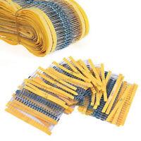 300PCS/Set 30 Values 1/4W 1% Metal Film Resistors Resistance Assortment Kit Hot