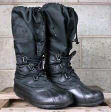 SOREL 'Snowlion' Black Insulated Tall Winter Snow Boots Women's Sz. 7