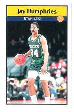 Jay Humphries 1992-93 Utah Jazz Basketball Italian Panni Sticker card