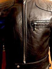 Belstaff Vintage 1970's Leather Short Biker Bomber Jacket size 40/38 Made In UK