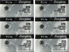 6 Energizer 379 Button Cell Silver Oxide Sr521sw Watch Batteries