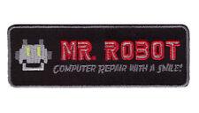 Iron on TAB Black Mr Robot series TV Costume  Morale Tactical FBI Patch