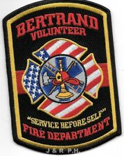 "*NEW*  Bertrand  Vol. Fire Dept., Missouri  (3.5"" x 5"" size)  fire patch"