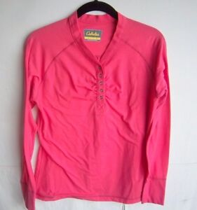 CABELA'S - Women's L/S Bright Pink T-Shirt - Size S/P