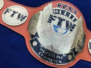 TAZ FTW Heavyweight Championship Wrestling Belt Leather Thick Plated Replica New