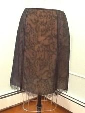 black lace skirt with leather insert size 4