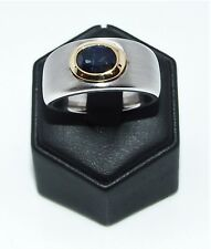 Ring 750/- Weißgold Saphir 1,8ct blau exclusives Einzelstück in 18ct.