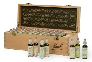 Nelson Bach complete Set 20ml Original Flower Remedies in hardwood box BBE 2025