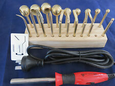 19 BRASS Millinery Electric Flower Making Tools PLUS NEW Variable handpiece = 19