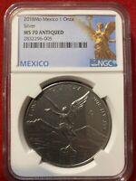 2018 Mexico 1 Onza Libertad Antique Finish NGC MS70 W/mexico Label
