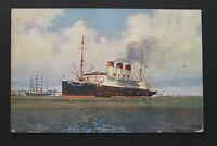 Marine Schiff AK Dampfer CAP POLONIO Hamburg Südamerika 1910-20 Montevideo +++